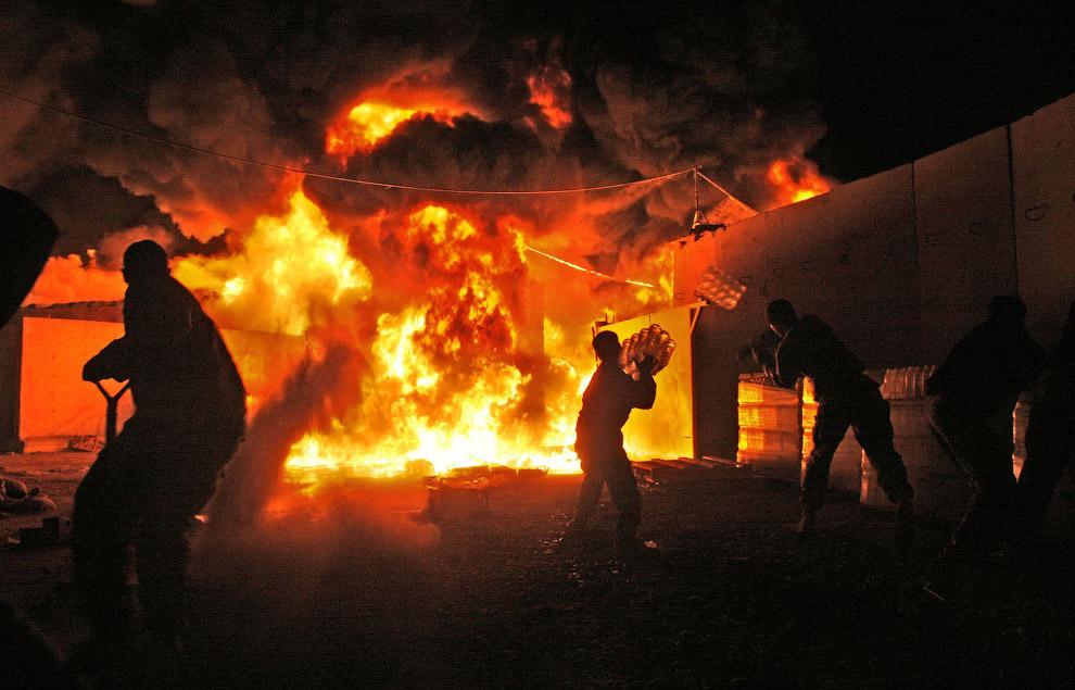После взрыва в городе Байджи