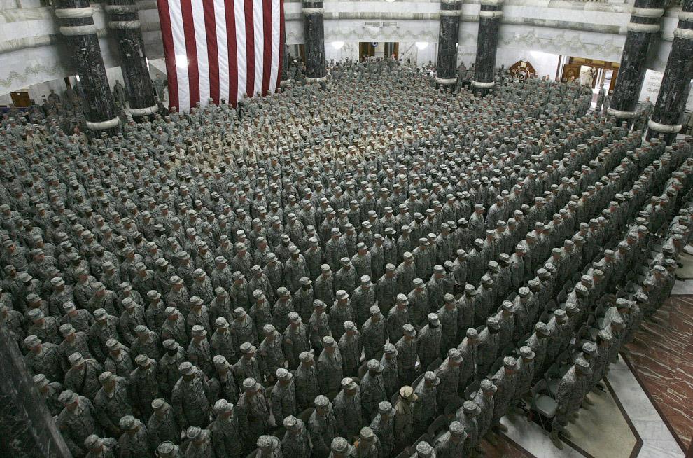Очередной массовый выезд военных в Багдад