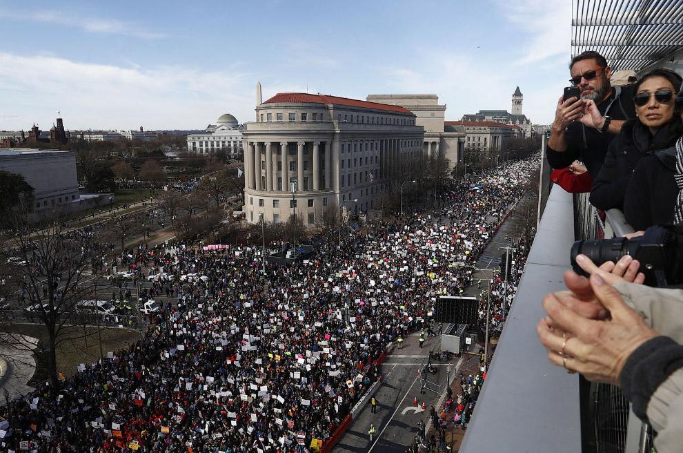 Марш против оружия в Вашингтоне