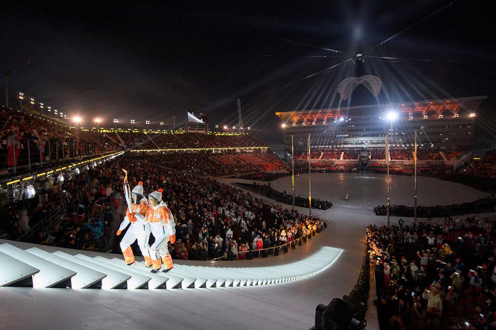 Зажжение Параолимпийского огня