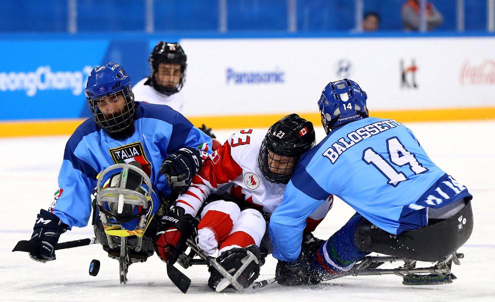 Следж-хоккей или хоккей на санях