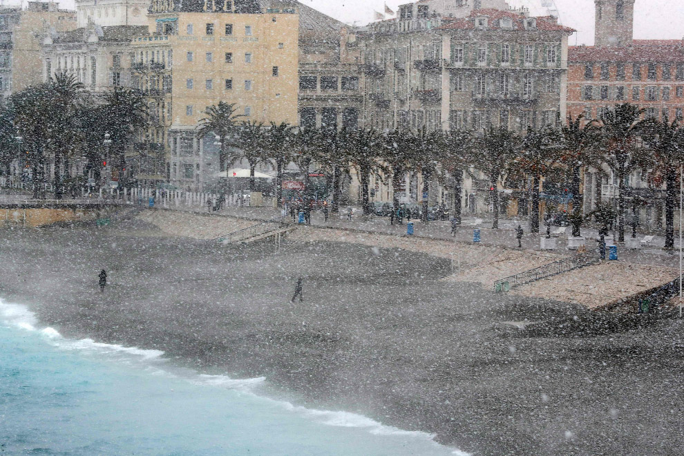 Снегопад в Ницце