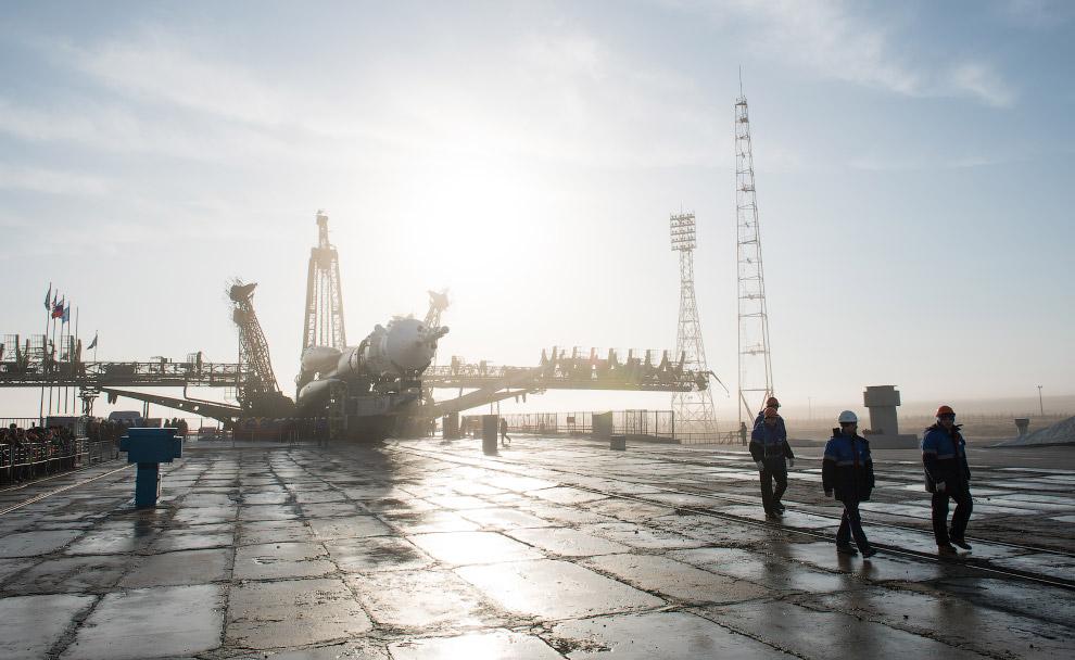 Старт российского космического корабля «Союз МС-08»