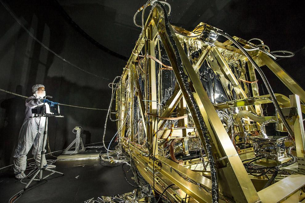 Полномасштабная модель космического телескопа Джеймса Уэбба в Остине