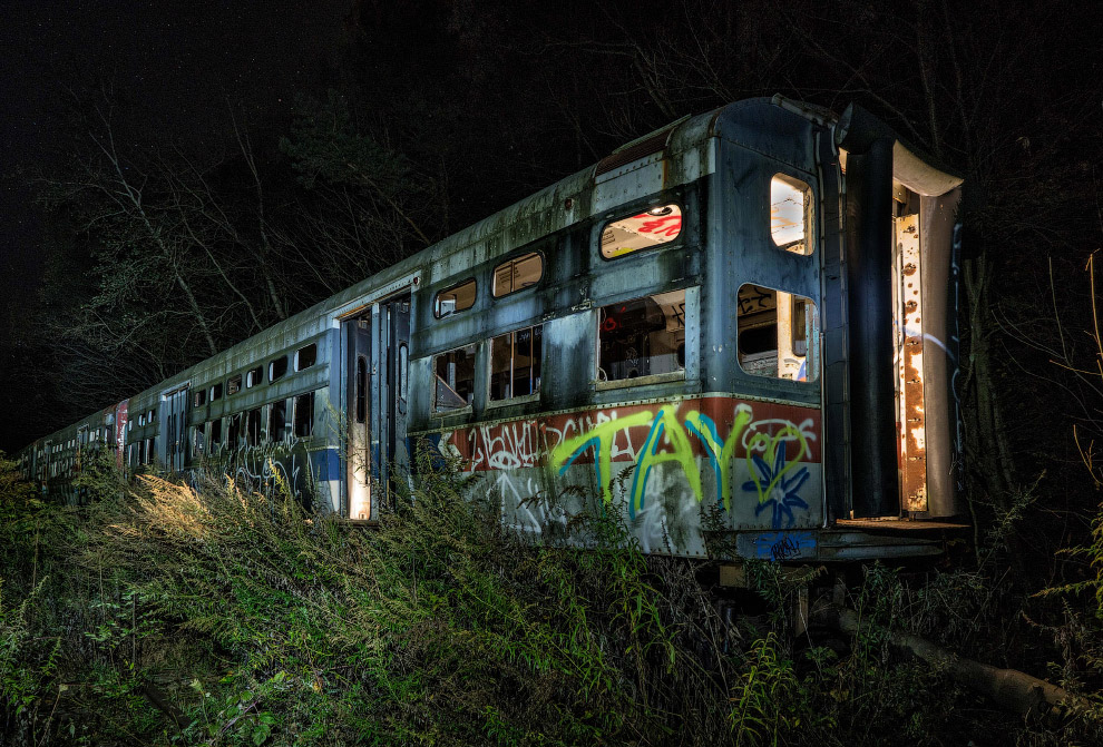 Abandoned Trolley Graveyard