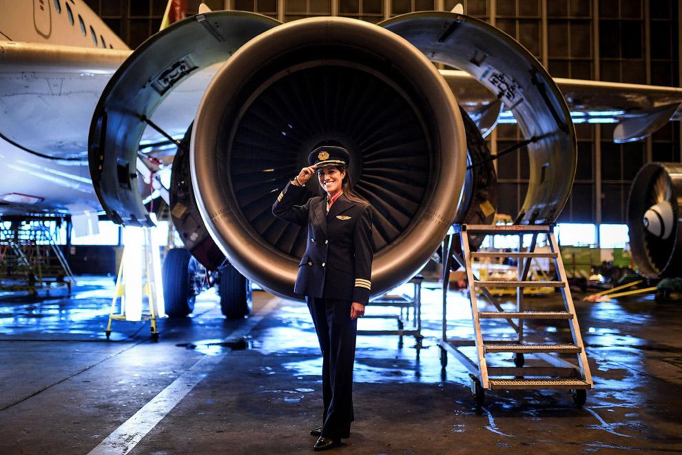 Пилот португальской авиакомпании