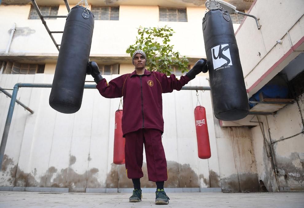 Национальная чемпионка по боксу из Пакистана
