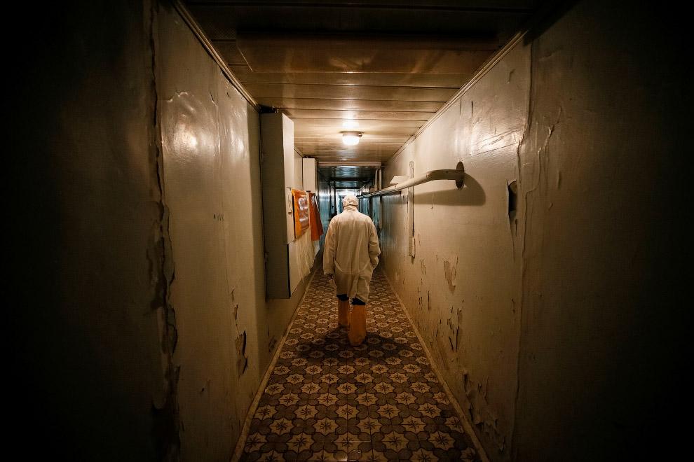 Коридоры третьего реактора чернобыльской АЭС