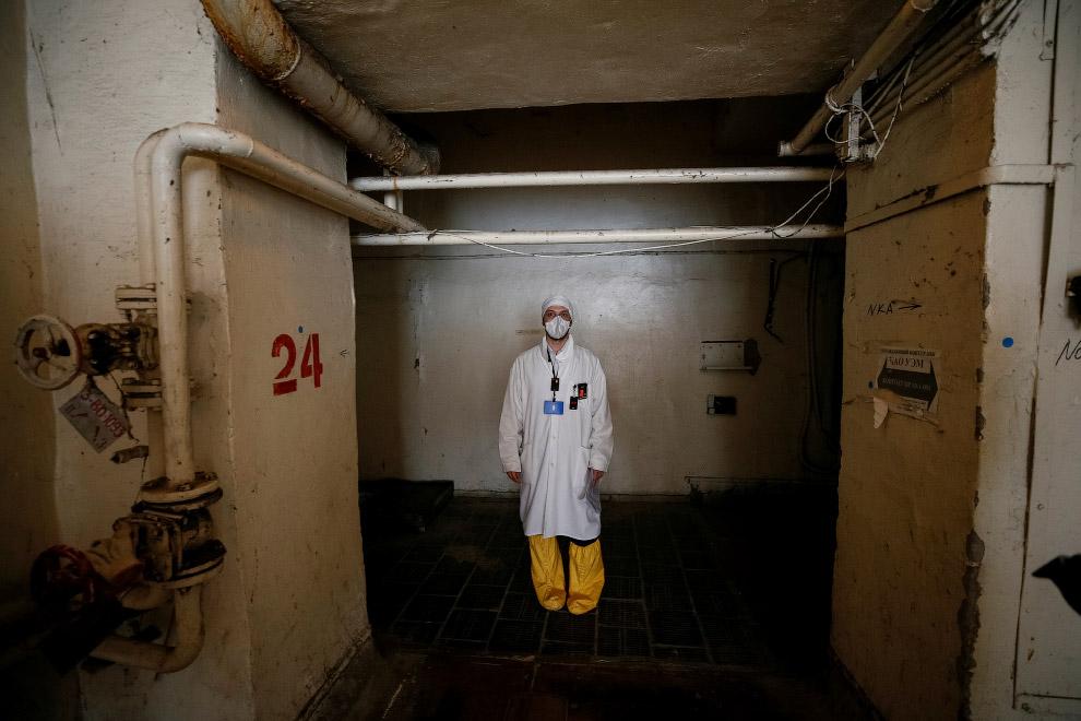 Внутри чернобыльской АЭС
