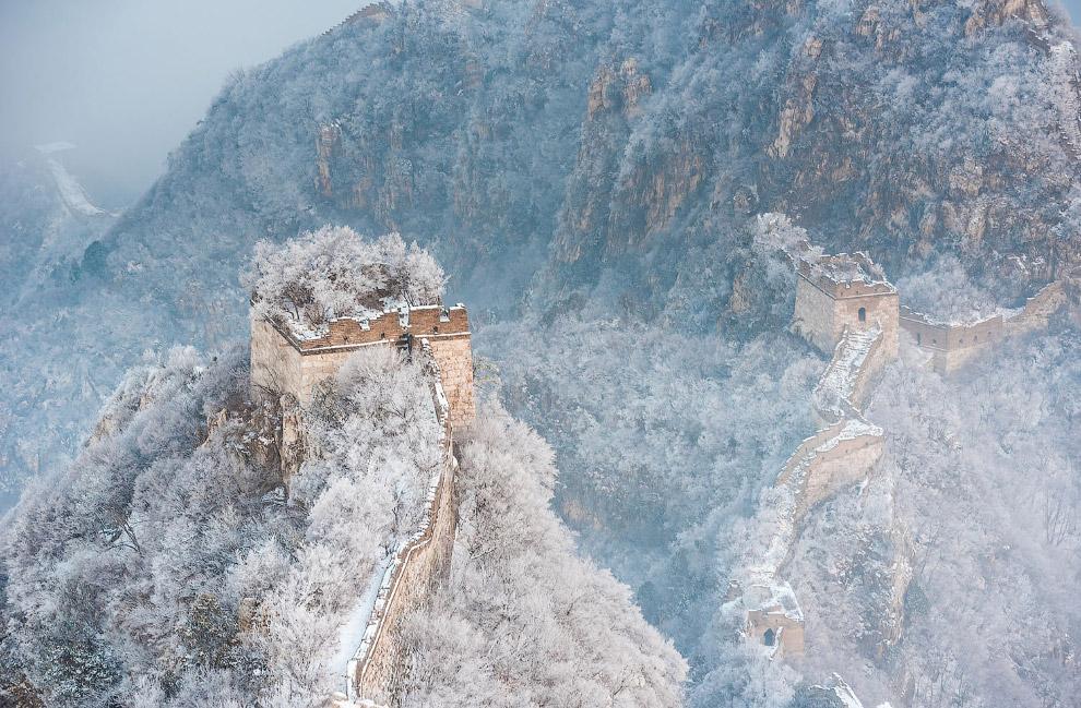 Часть Великой китайской стены зимой