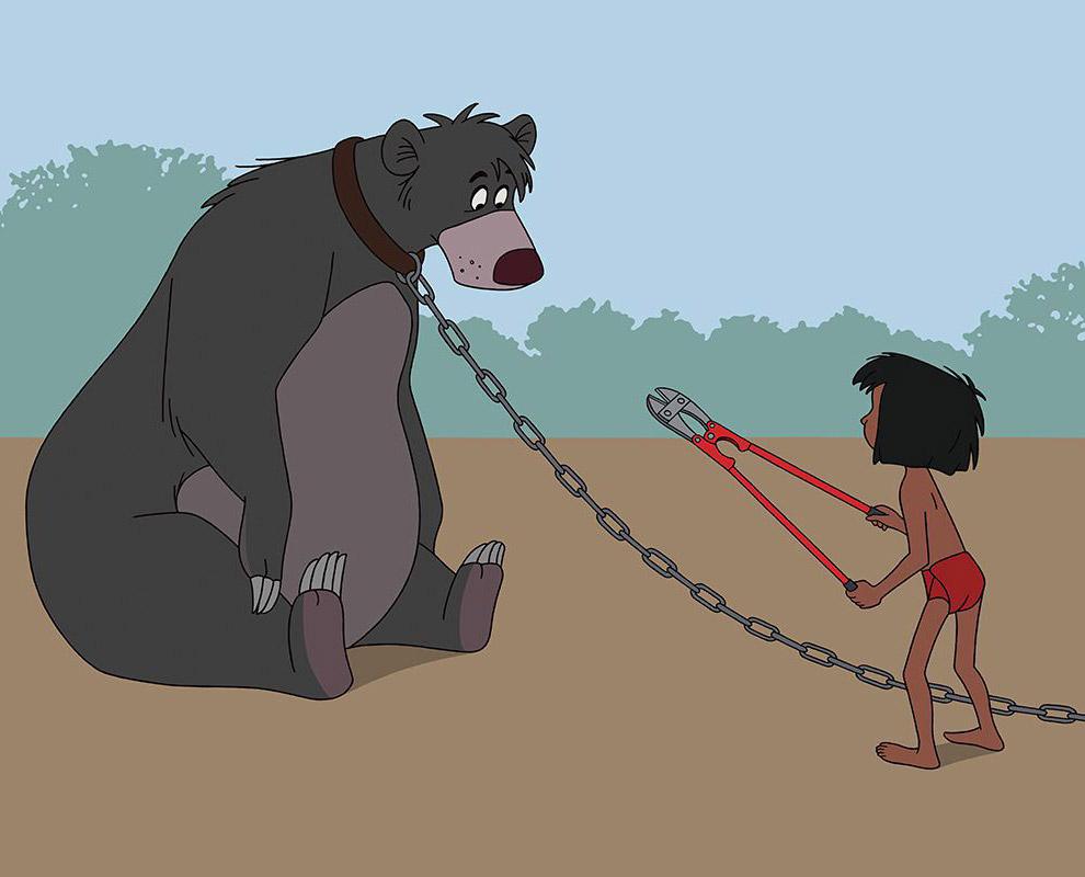 Балу в наши дни бы сидел на цепи у Маугли