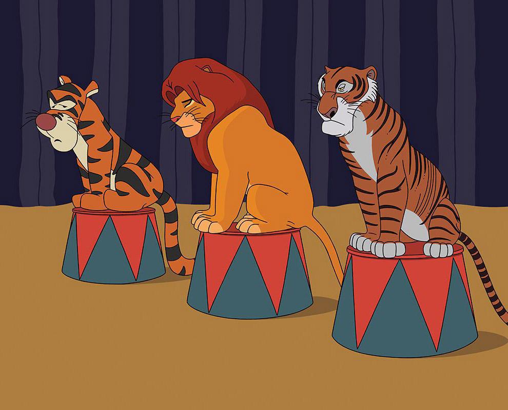 Тигра, Симба и Шерхан сегодня бы понуро сидели на тумбах в цирке