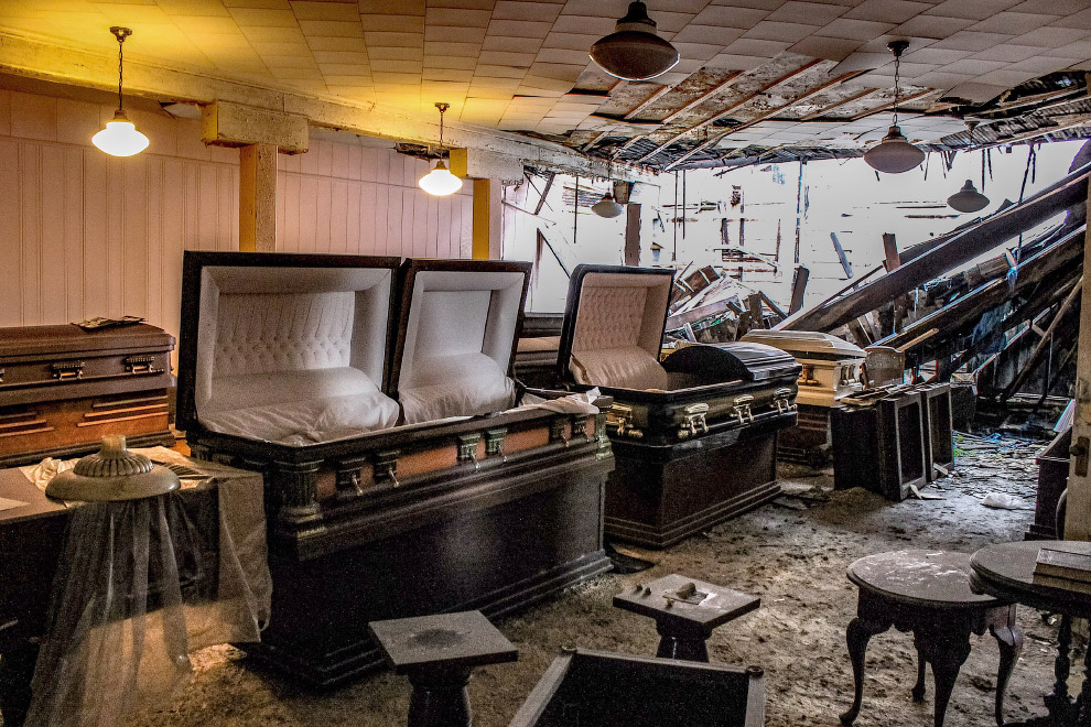 Abandoned death trap funeral home