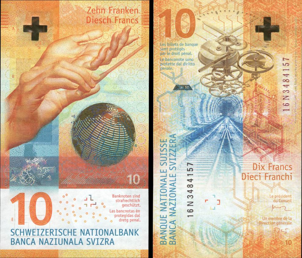 десять швейцарских франков