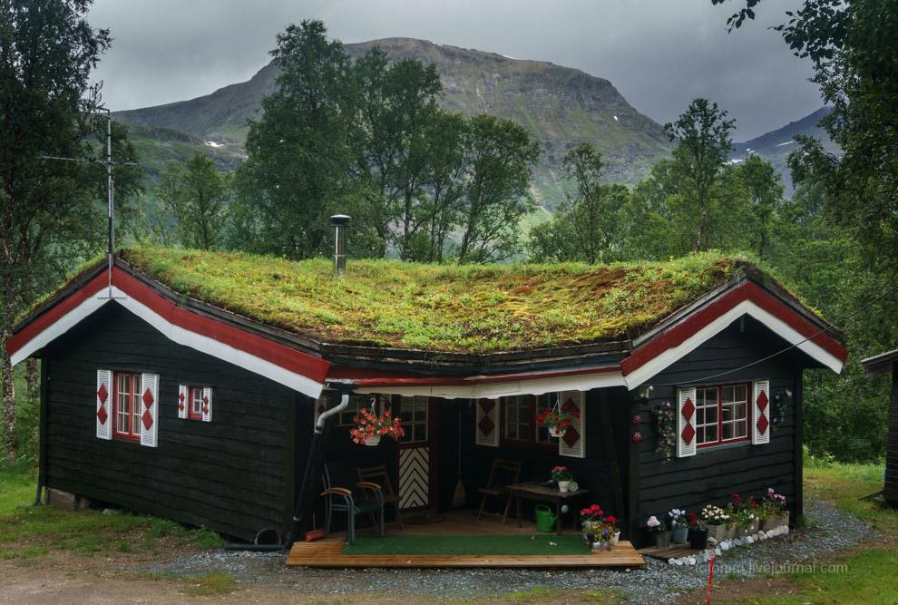 Домики с земляной крышей
