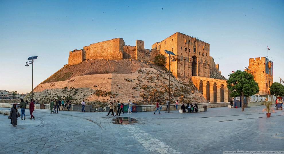 Цитадель, построенная в XIII веке, и которая является символом Алеппо
