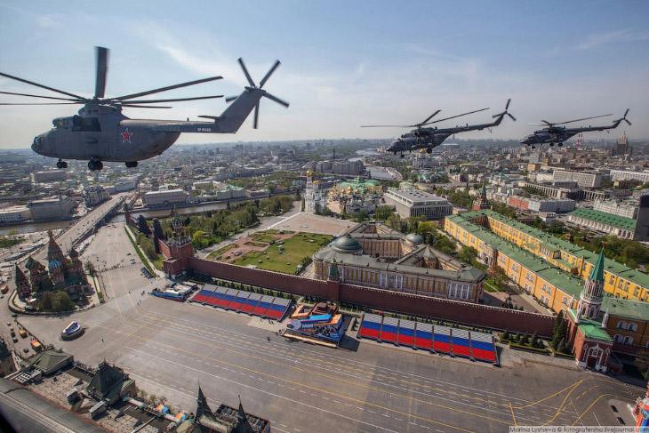 Репетиция Парада Победы и Москва с высоты