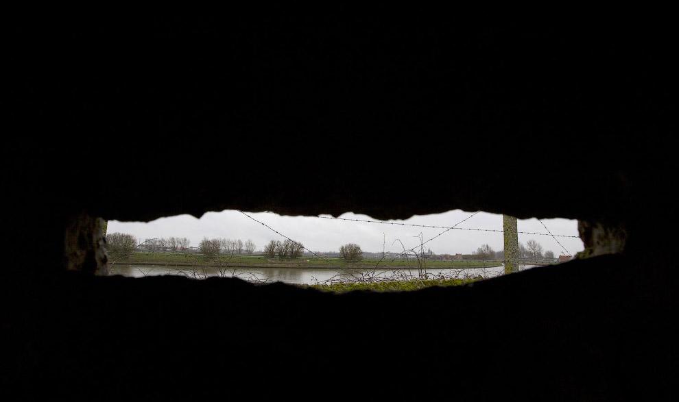 Вид из бункера в Бельгии