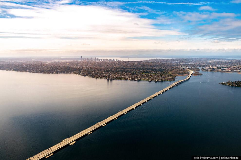 Плавучий мост Сиэтла (Evergreen Point Floating Bridge)