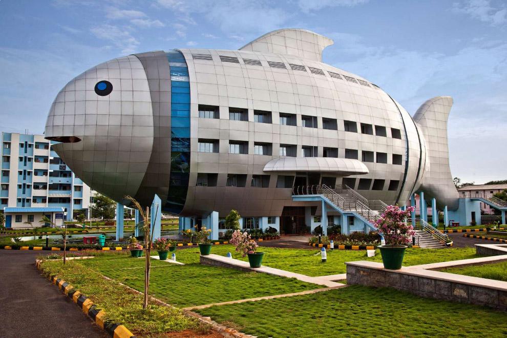 Здание национального совета по развитию рыболовства, Хайдерабад, Индия