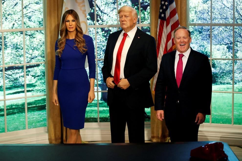 Трамп с женой