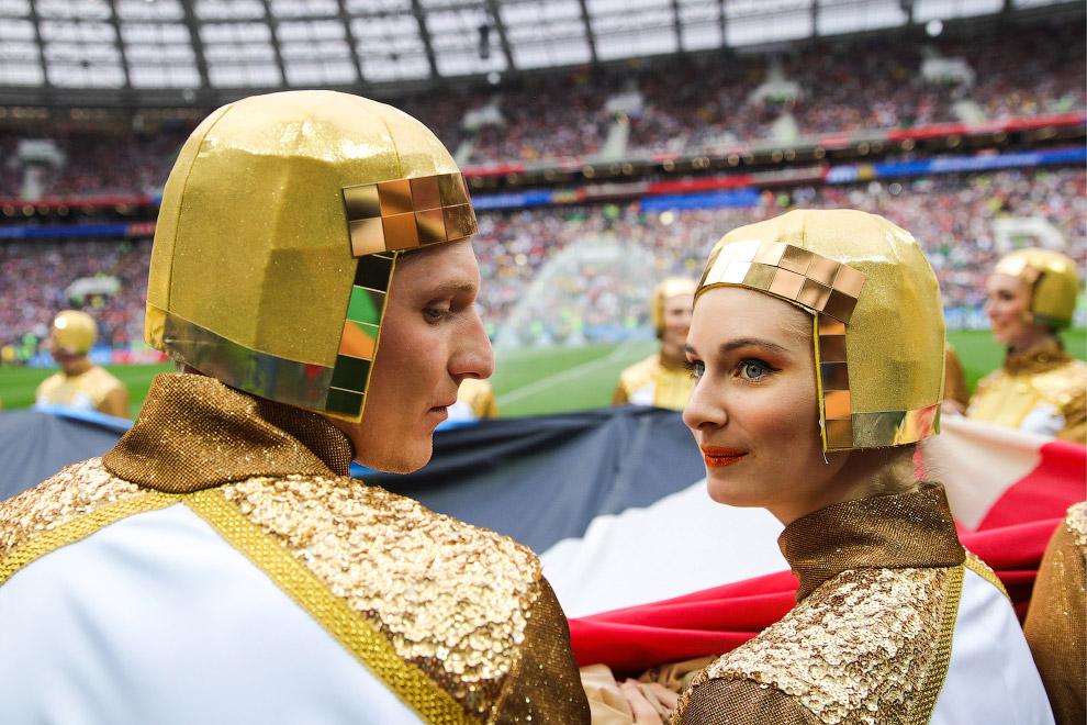 На стадионе Лужники перед матчем с Саудовской Аравией