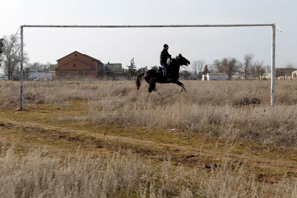 Секретные футбольные ворота в Ставропольском крае, Россия