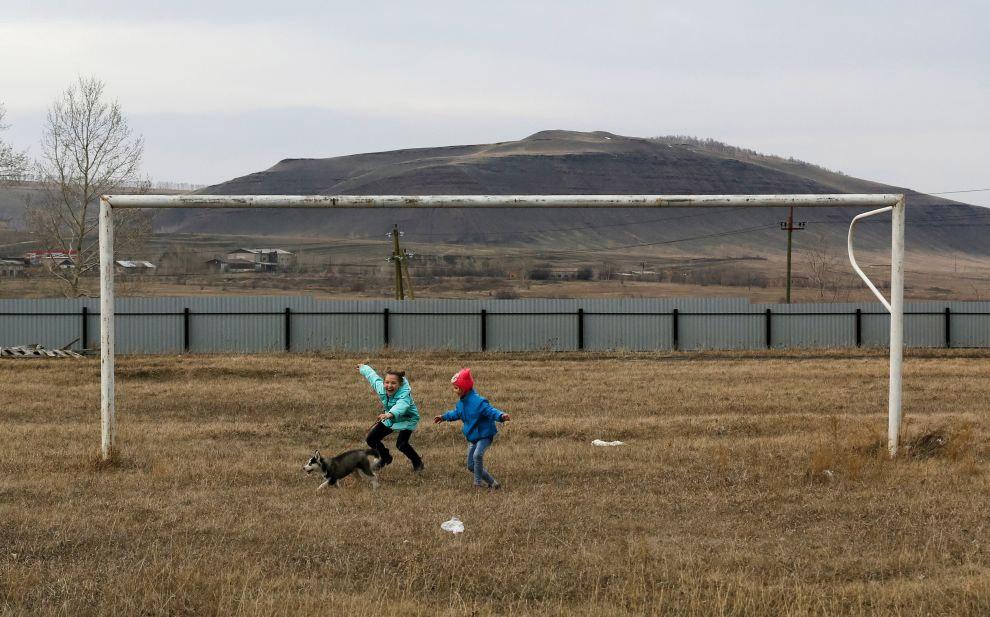 Футбольные ворота в Красноярском крае, Россия