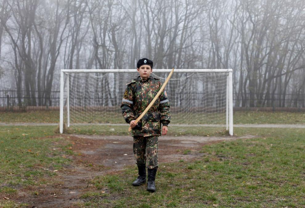 Футбольные ворота в Ставрополе, Россия