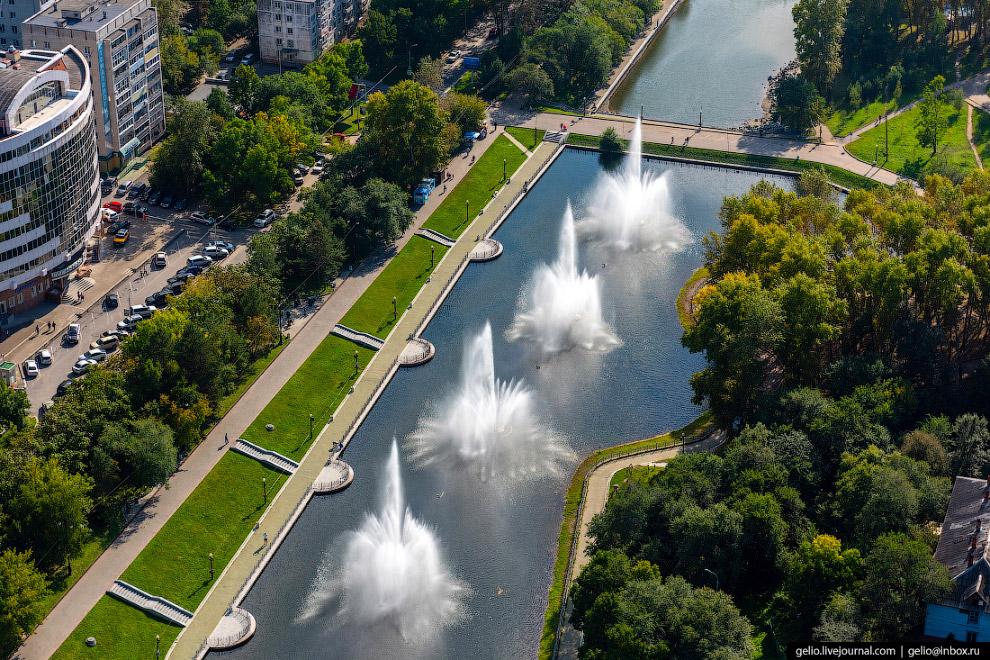 Система городских прудов на Уссурийском бульваре.