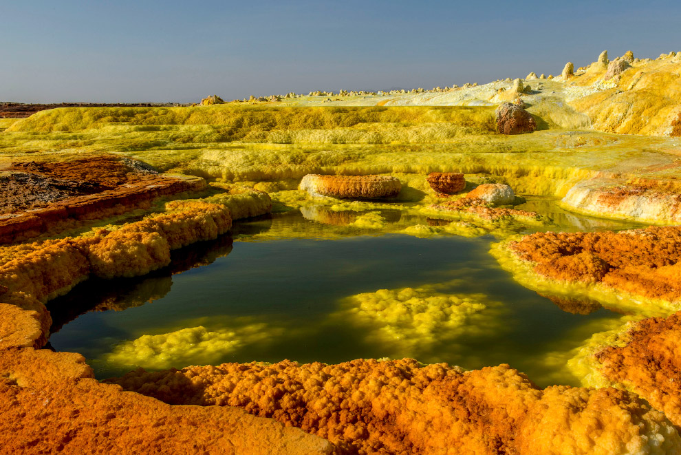Acid pools in East Africa