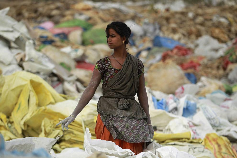 Пластик и не только на окраине Джамму, Индия