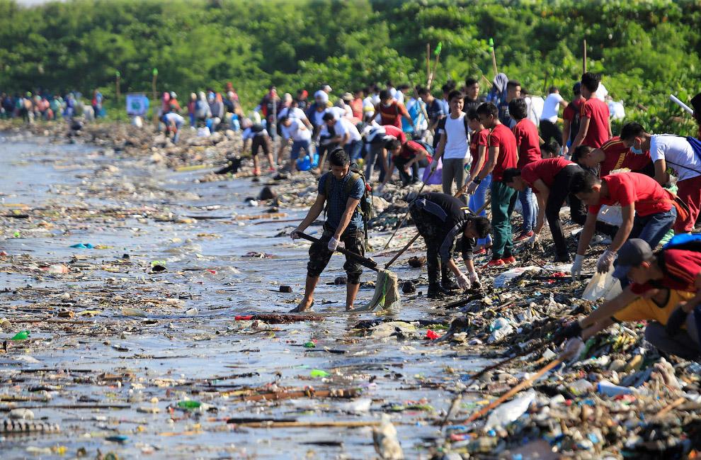 Побережье в городе Паранаке, Филиппины