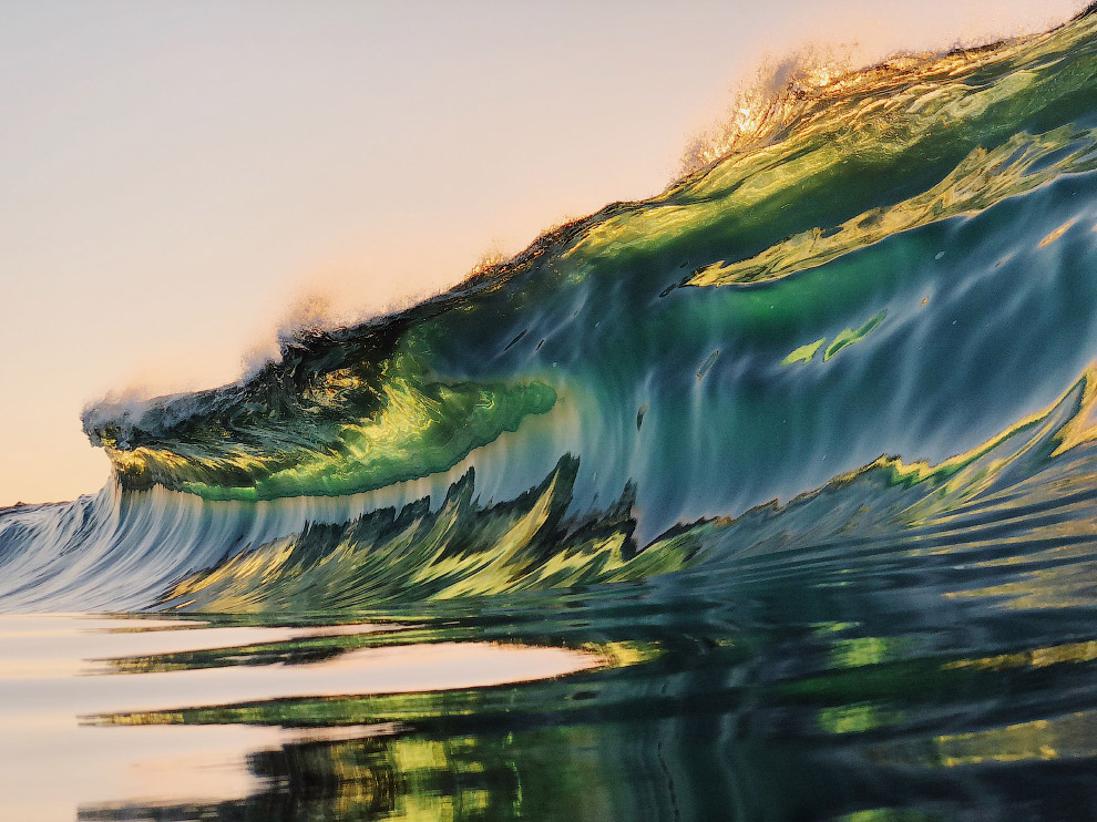 Vibrant Wave Photography