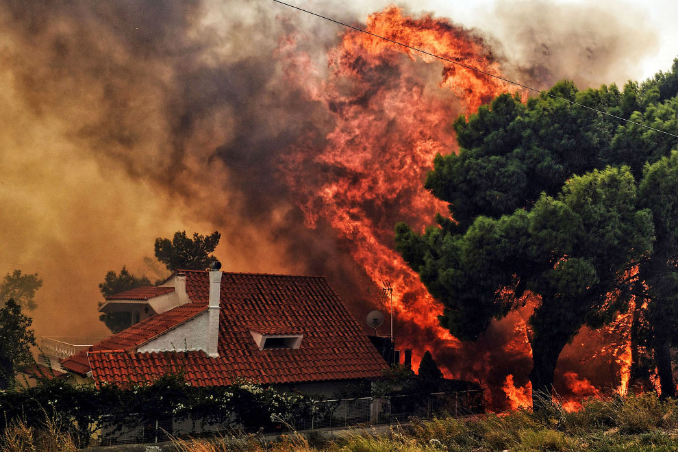 Пожары 2018. Греция