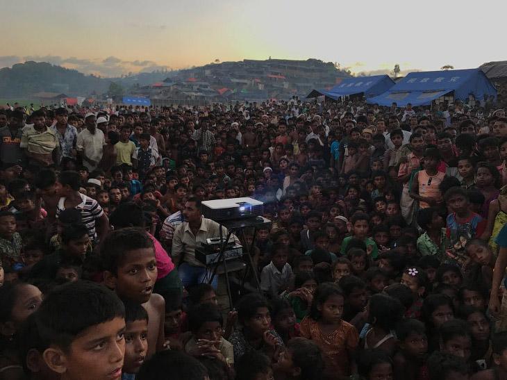Лагерь беженцев Тангхали в Ухии