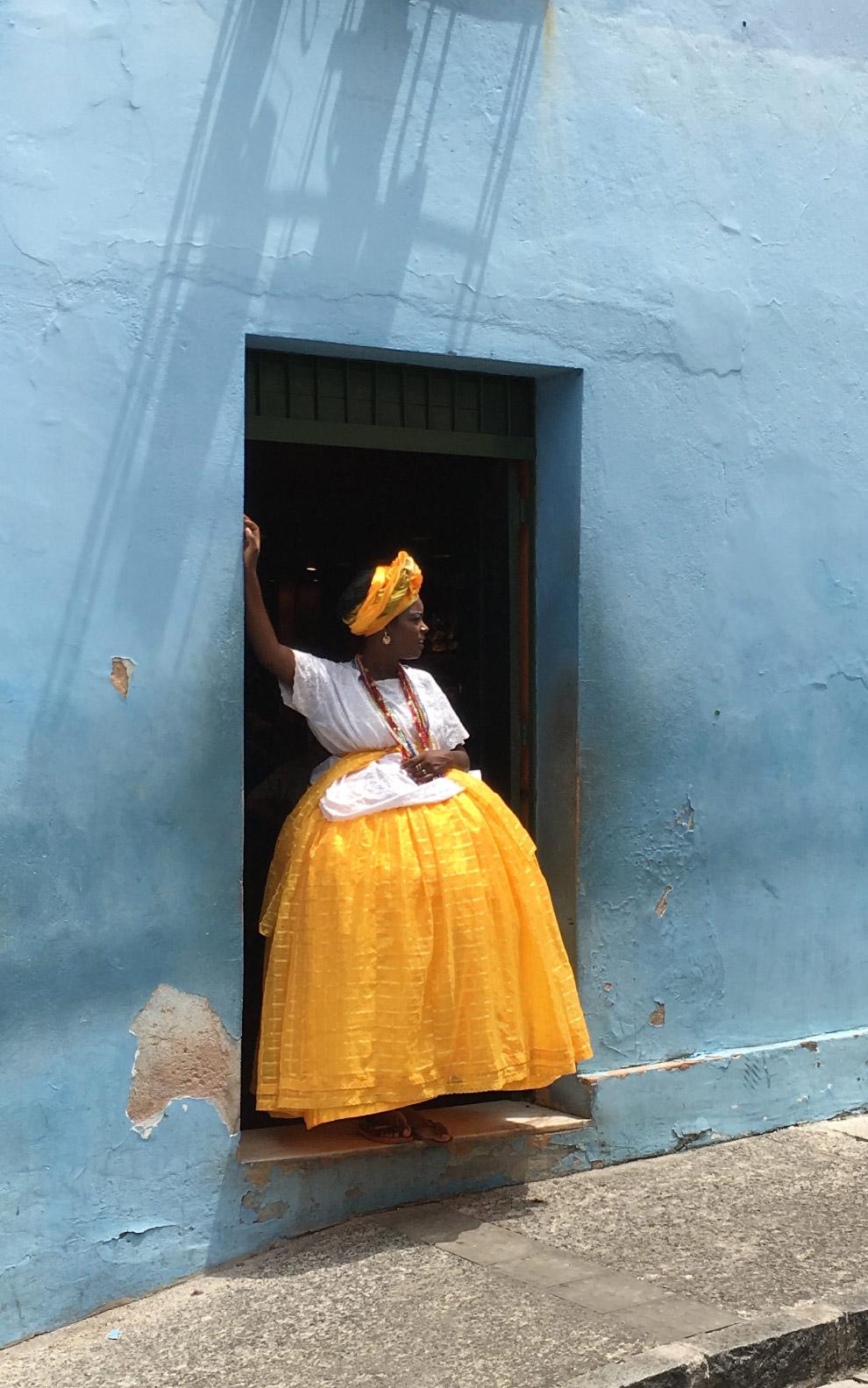 Бело-голубое в Сальвадоре, Бразилия