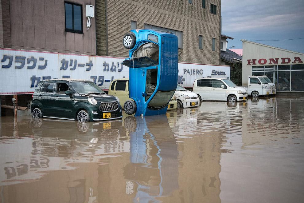 Повінь в Японії 2018