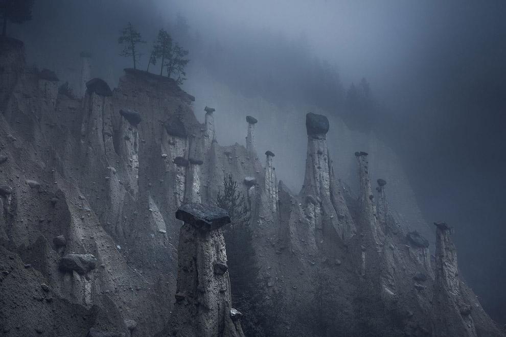 Земляные столбы Ренона в Италии