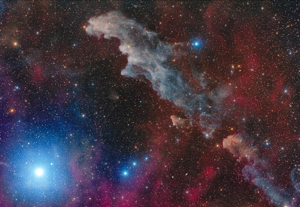 Ригель и отражательная туманность Голова ведьмы IC 2118
