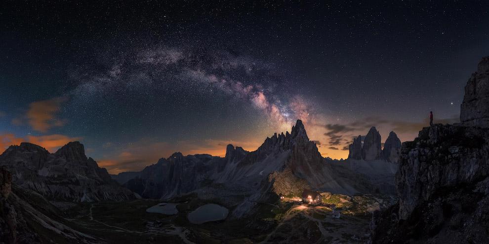 Млечный путь и Доломитовые Альпы