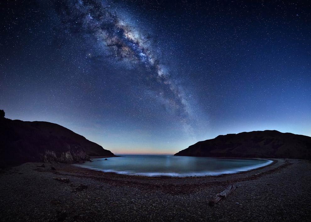 Галактика Млечный путь в Новой Зеландии