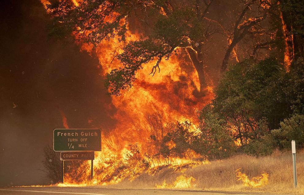 Пожары в Калифорнии 2018