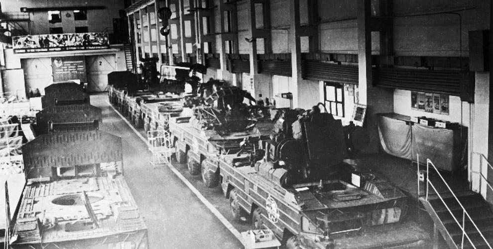 Серийное производство ЗРК «Оса» в цехе 133.