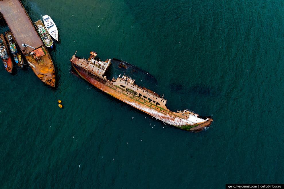 Затонувшее судно «Нева»