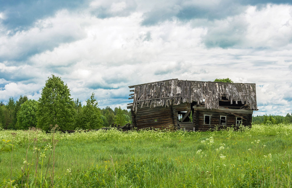 Деревенский домик в Костромской области