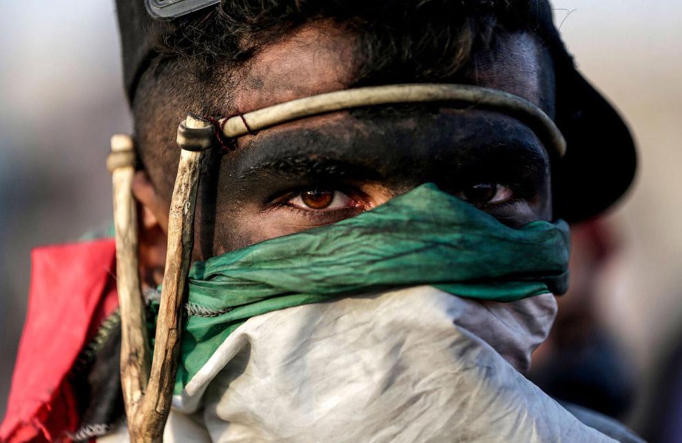 Палестинец с рогаткой