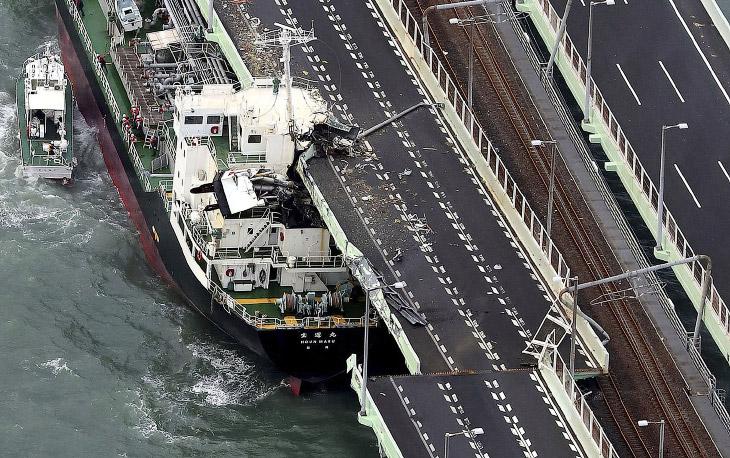 Тайфун «Джеби» — самый мощный тайфун за 25 лет