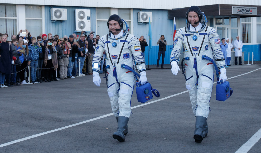 Алексей Овчинин и астронавт NASA Ник Хейг