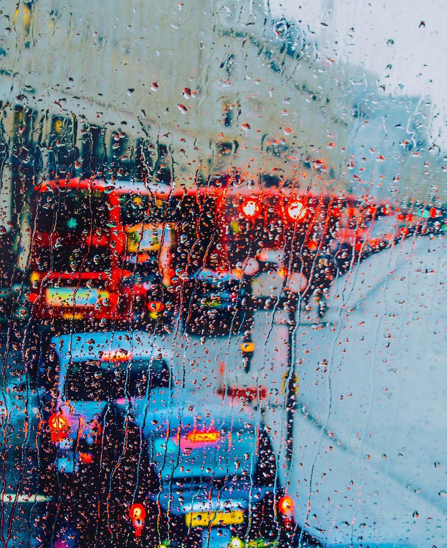 Поездка на автобусе в дождь
